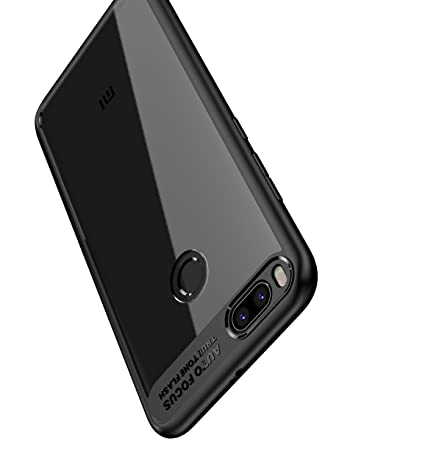new style 7cb36 82c43 Bounceback ® Xiaomi Redmi Mi A1 Case Shock Proof Transparent Clear Slim  Hard Back Cover for Xiaomi Redmi Mi A1 / MIA1 (Charcoal Black)