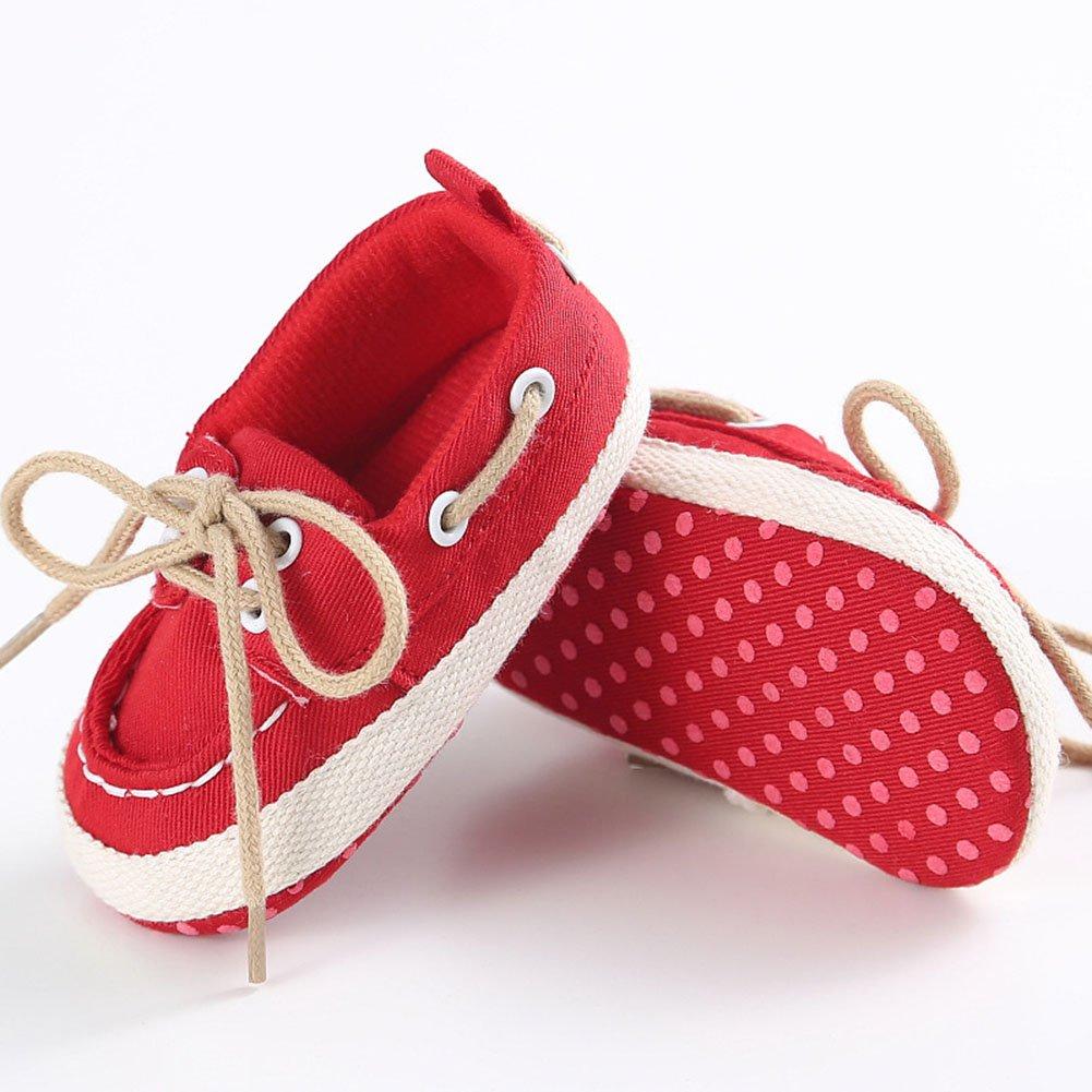 Baorong Infant Baby Boys Lace Up Soft Sole Prewalker Loafer