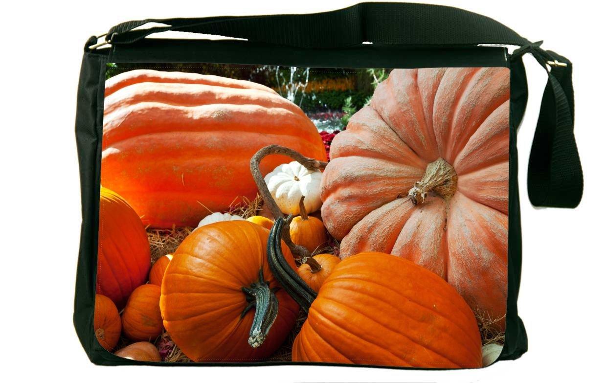 Rikki Knight Halloween Pumpkins Laying in Field Messenger Bag School Bag