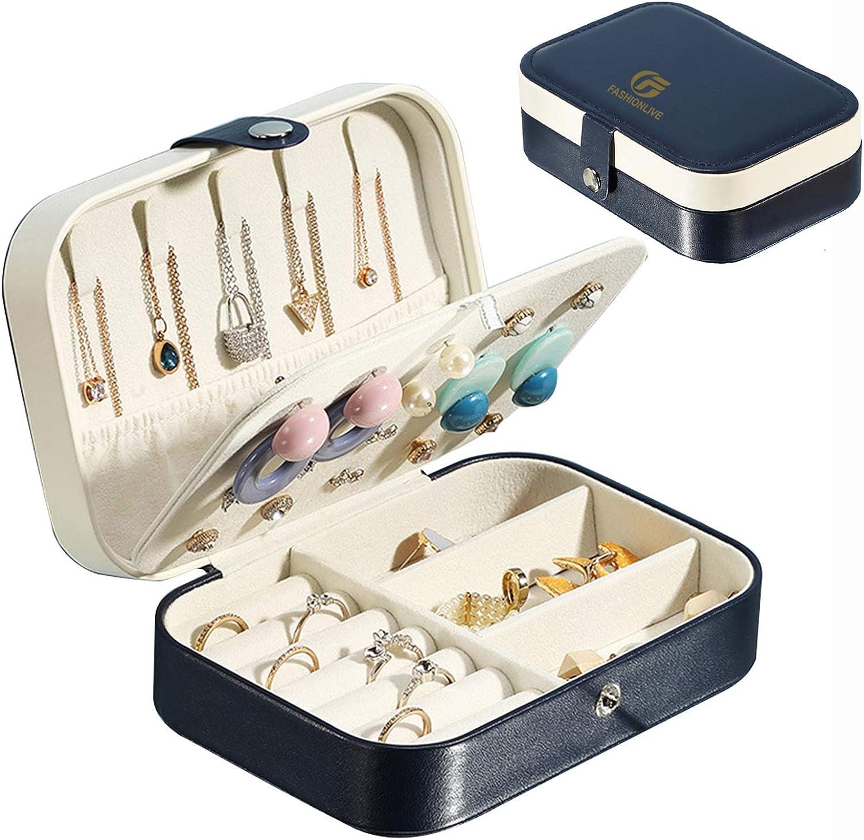 1pcs Chic Travel Boxes Wooden Mini Portable Jewelry Necklaces Bracelet Organizer