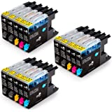 MIROO 15 Pack LC75 LC71 LC79 XL Compatible Ink Cartridge High Yield, Replacement for Brother MFC J280W J825DW J430W J835DW J625DW J425W J6710DW J280W J6910DW J5910DW J6510DW J435W Printer