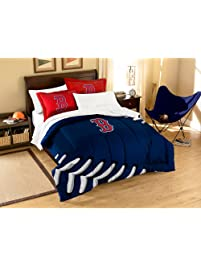 MLB Boston Red Sox Twin Full Size Comforter With Sham Set