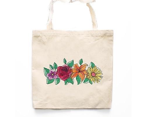 Farmers Market Bag Photo Canvas Bag Reusable Bag White Flower Tote Bag White Peony Photo Canvas Tote Bag Floral Tote bag