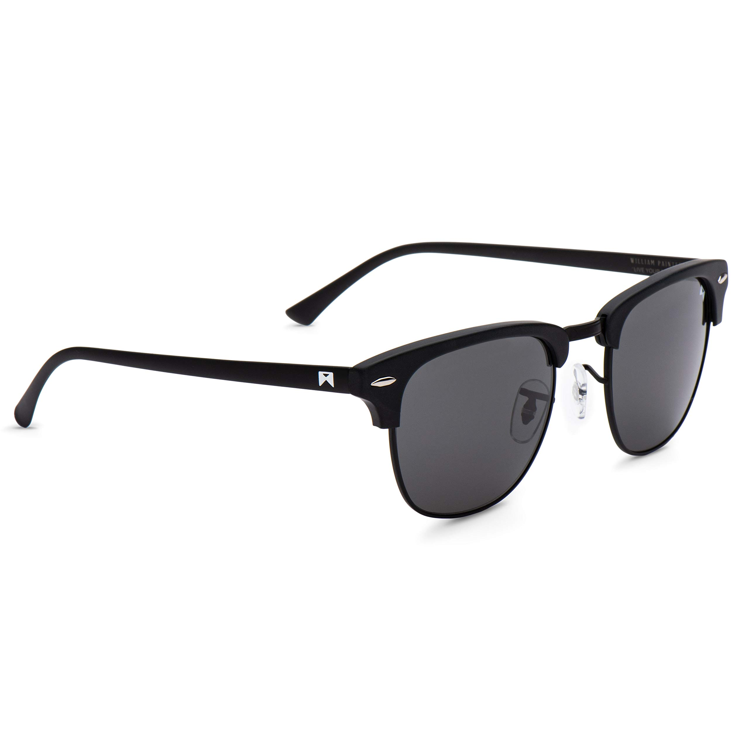 cf0bea8545 Details about William Painter- The Empire Polarized  Signature  Sunglasses  (Black Black)