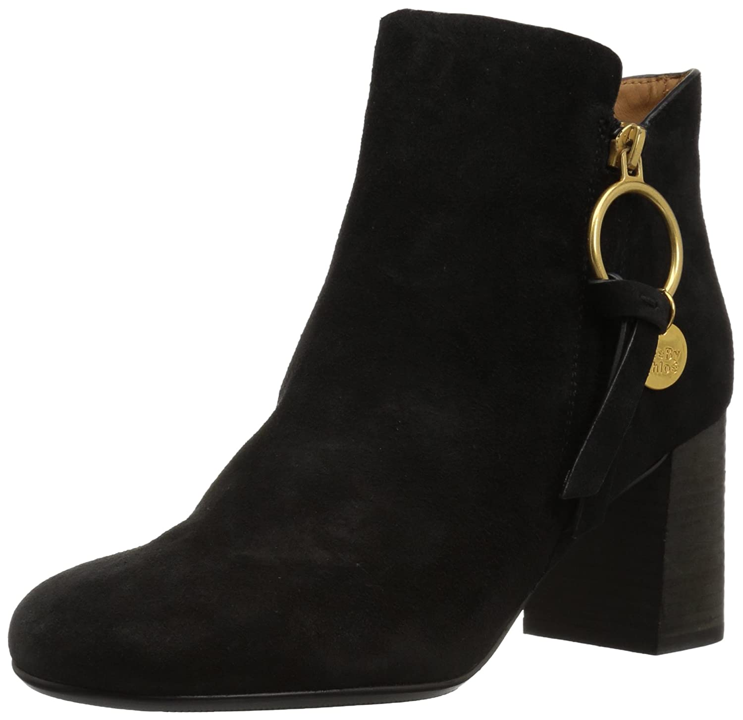 See by Chloé Women's Louise Midheel Ankle Boot B072K6Y2SQ 39.5 M EU (9.5 US)|Black