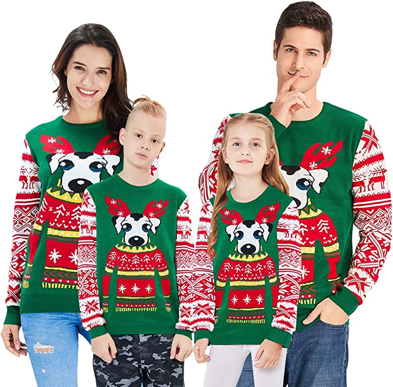 Kids Sweater Novelty Family Christmas Jumpers Age 6,17 Years