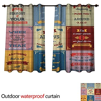 Amazon Com Anshesix Quote Outdoor Curtain For Patio Collection Of