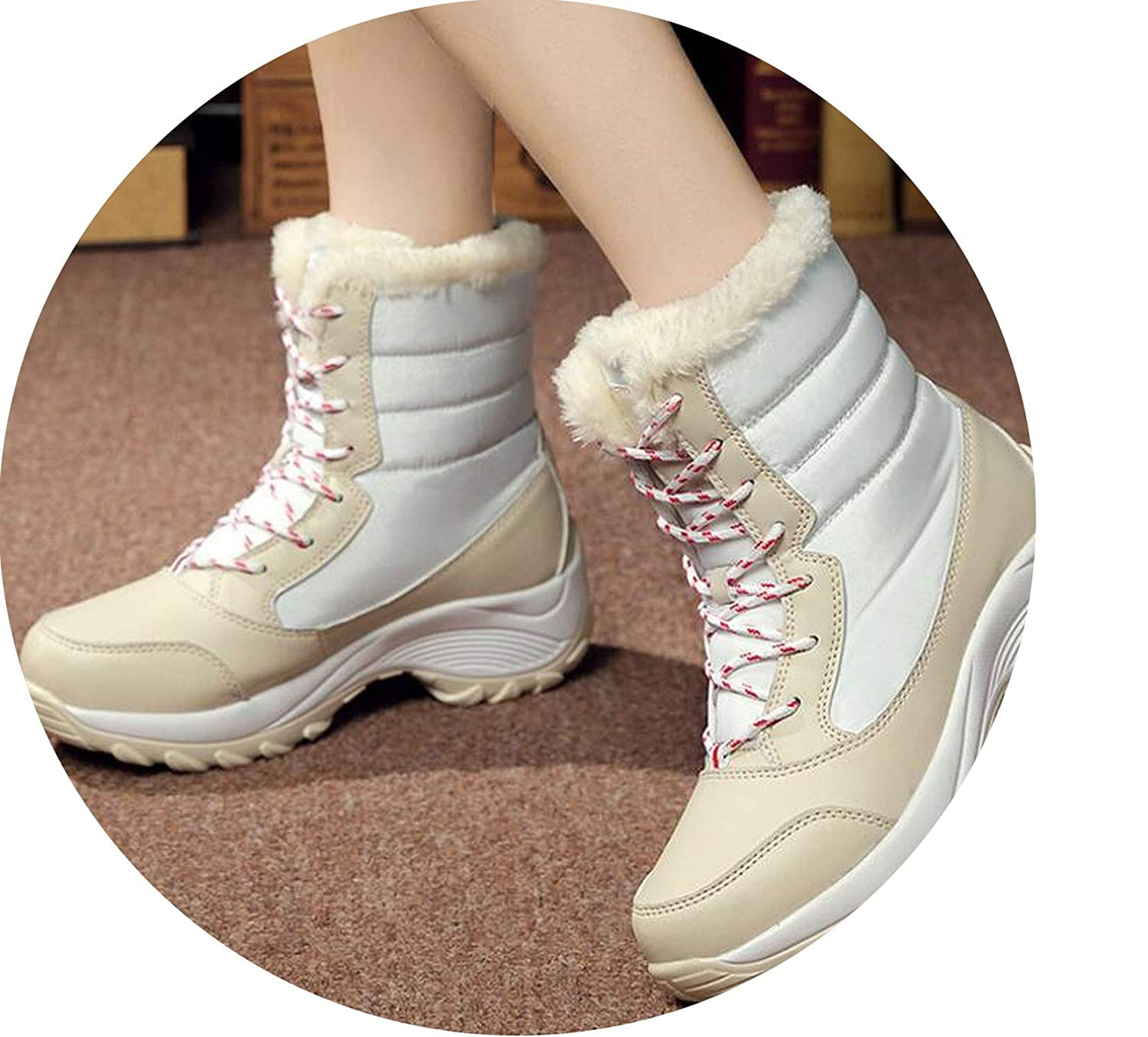 f55b8a0ee51 Amazon.com | Crazy-Shop Women Boots Non-Slip Waterproof Winter Ankle ...