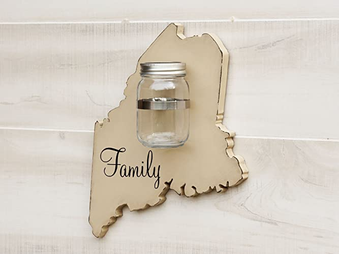 Cookie Jar Maine Impressive Amazon Maine State Map Shape Mason Jar Wall Vase Or Sconce