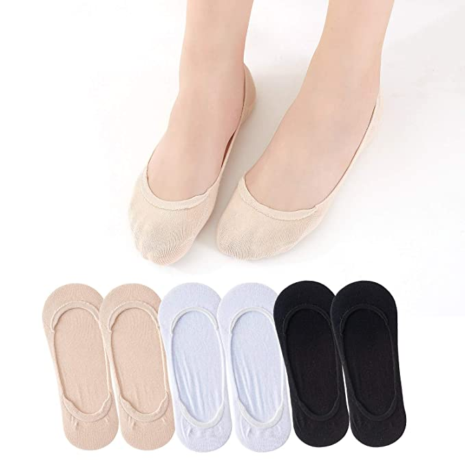 ... de Las Señoras Low Cut Antideslizante Zapatillas de Deporte de Silicona Calcetines Cortos Transpirables para Mocasines Botas Zapatos: Amazon.es: Ropa y ...