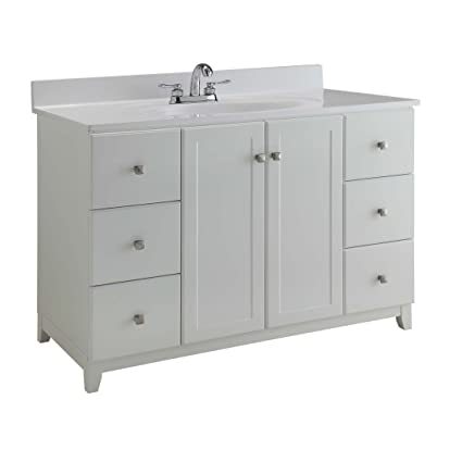 Design House 547182 Shorewood Furniture Style Vanity Cabinet With 2 Doors  And 6