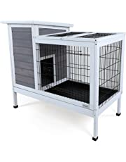 """Petsfit Indoor Rabbit Hutch for Bunny and Guinea Pig with New Deeper Tray, 38.2"""" x 33.8"""" x 19.6"""""""