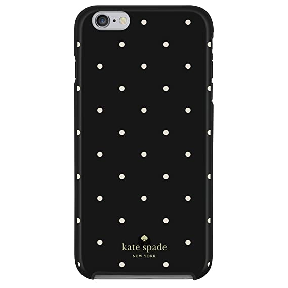 newest 2904c 8a66d kate spade new york Hybrid Hardshell Case compatible with both iPhone 6  Plus, iPhone 6s Plus - Larabee Dot Black