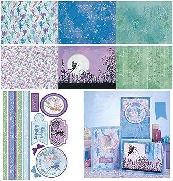 Hearthrousy 14 PCS Artisanat Papier F/ée DIY Photo Album Planificateur Fond Scrapbooking Papier D/écoratif Fond Craft Carte 15x20m