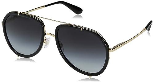 Dolce & Gabbana occhiali da sole Aviator in oro nero DG2161 02/8G 55