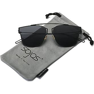 0f884a8389  4 SOJOS Classic Polarized Sunglasses for Women Men Mirrored Lens SJ2050