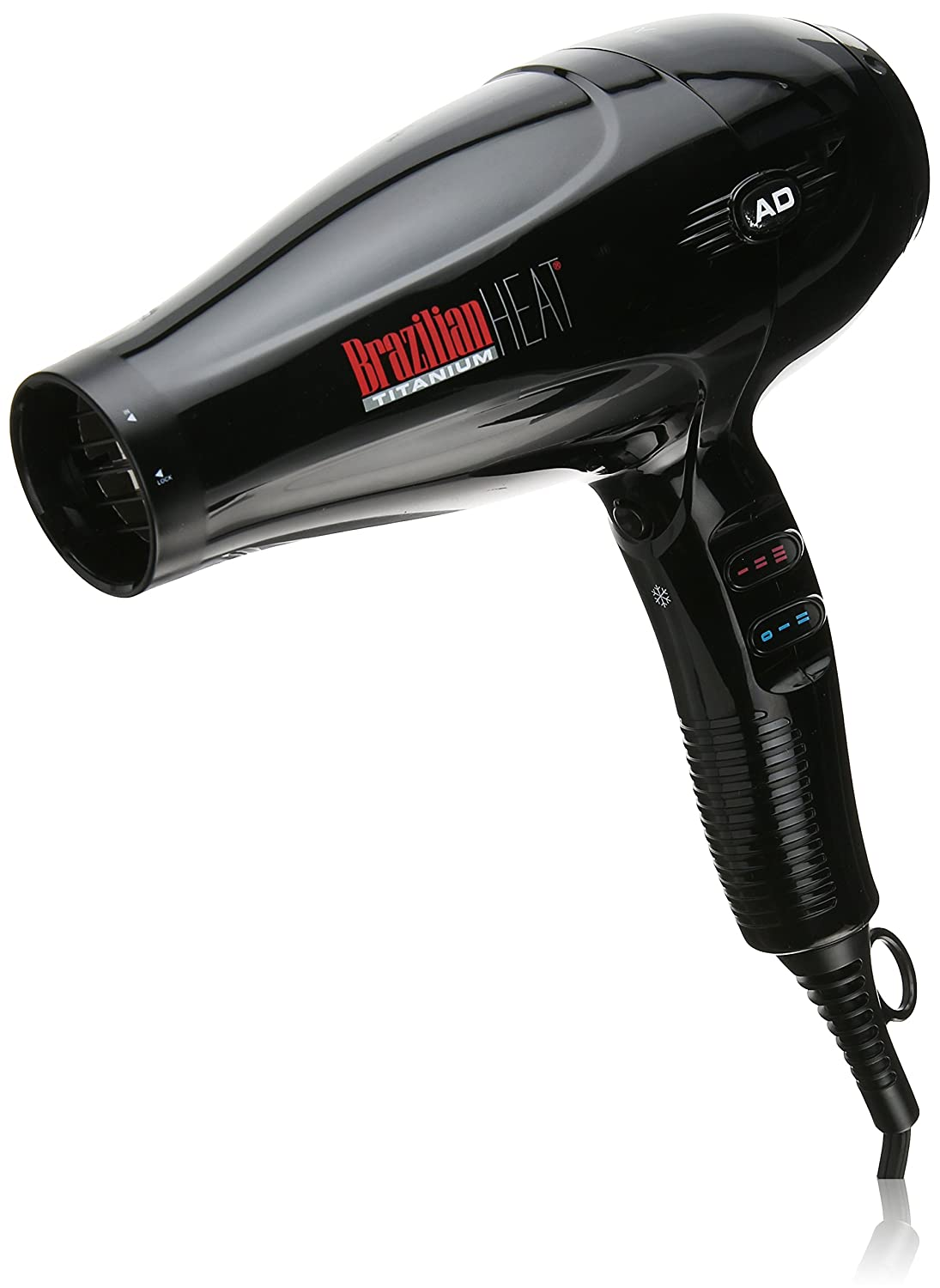 Brazilian Heat BBH3202 Brazilian Heat After Dark Titanium Ionic Keratin Safe Hair Dryer, 1900 Watt