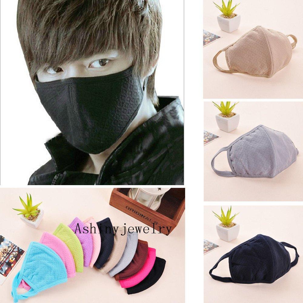 5pcs Luxury New Unisex Men Women Cycling Anti-dust Cotton Mouth Face Mask (black) by Sinlifu (Image #3)