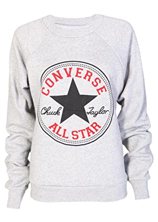 cc51c085a9767f NEW LADIES WOMENS CONVERSE ALL STAR PRINT SWEATSHIRT JUMPER TOP 8-14 (S M