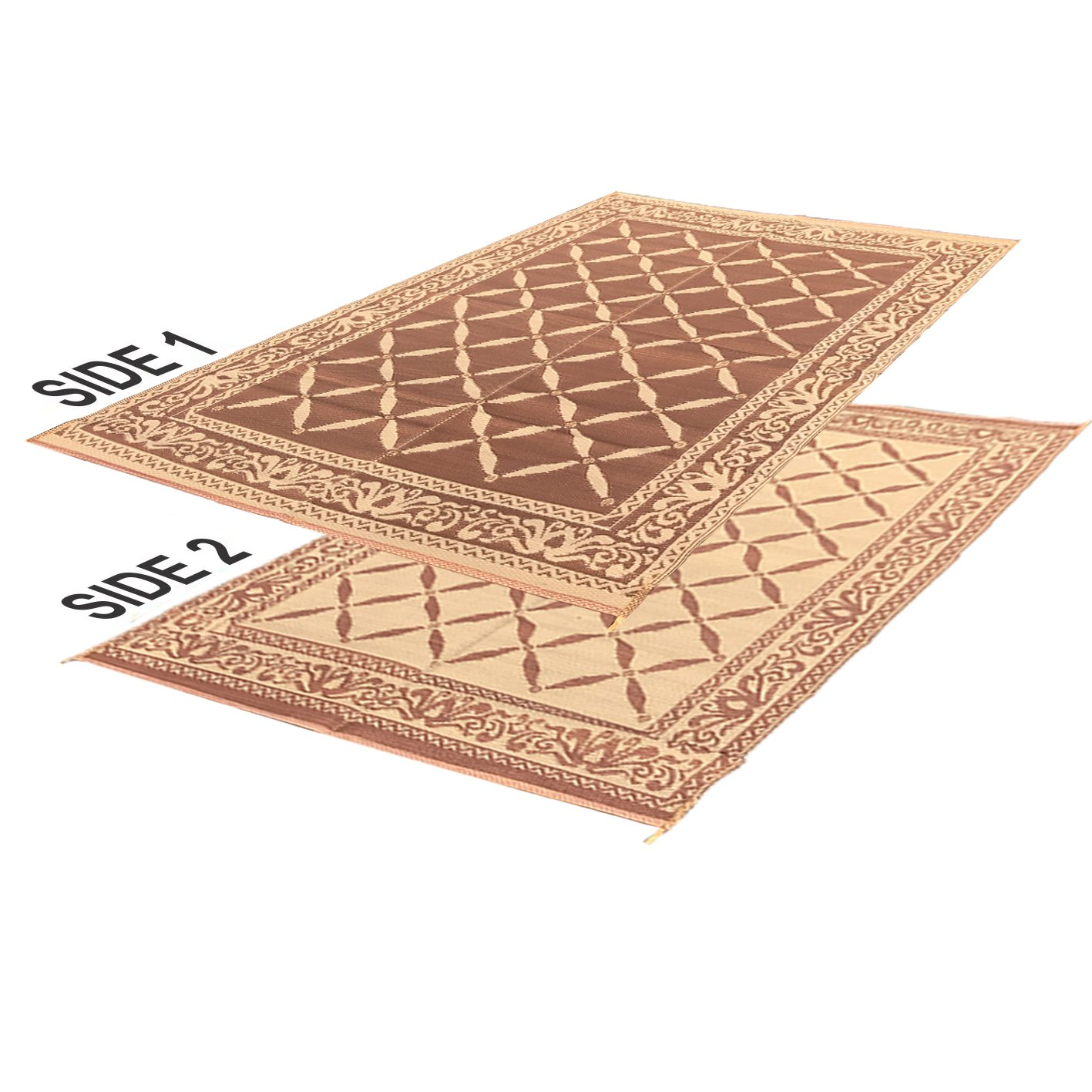Reversible Rv Mat Carrying Strap EasyGoProducts EGP-RVM-008 6 x 9 Outdoor Patio Mat EasyGO Products Rv Camping Mats