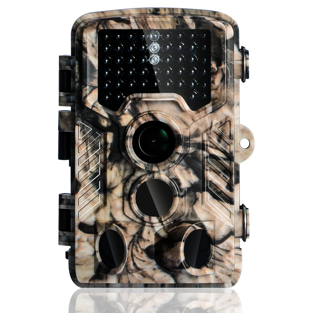 Hunting Game Camera Wildlife Surveillance Trail Cameras, 16MP 1080P with 65ft Infrared Night Vision, 0.2s Motion Activated, 46pcs No Glow IR LEDs, IP56 Waterproof,120°PIR Sensors,2.4'' LCD Screen,Camo by YOUTHINK