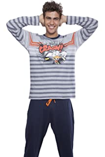 Pijama Donald Crash, Color Gris Jaspe, Talla S