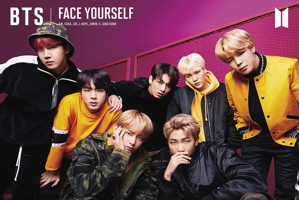 8369a7c7d45f Amazon.com  Poster BTS Face Yourself - Kpop 24in x 36in Jin Jimin Suga RM V  Jungkook J-hope  Posters   Prints