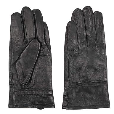 c7b381e277b89 Luxury Leather Gloves for Gentlemen, PUREMSX Men's Fashion Plain Solid  Simple Cold Weather DriveGloves Outdoor