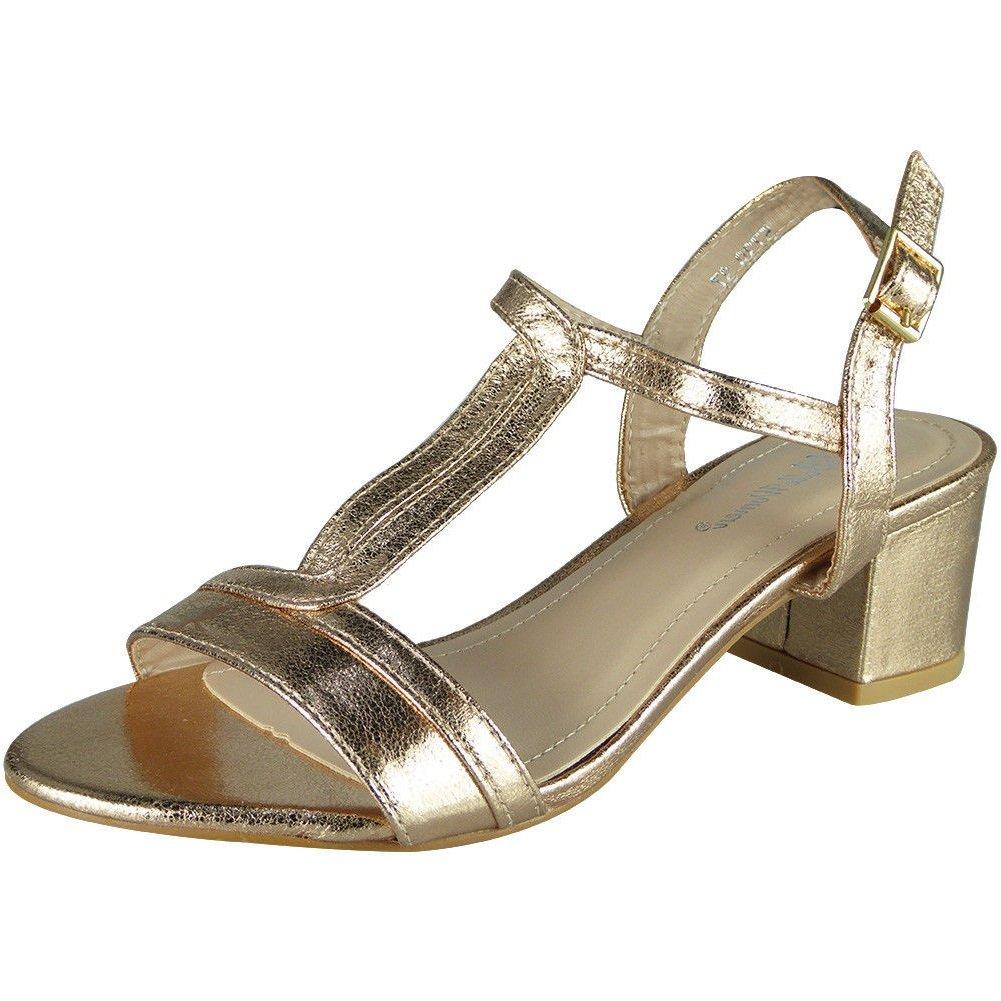 4e2469d0cb8 Women T-Bar Sandals   T-Bar Heels   Summer Sandals   Mid Heel Shoes   Ankle  Strap Buckle   Ladies Party Sandals   Low Block Heel Sandals   T-Bar Shoes  ...