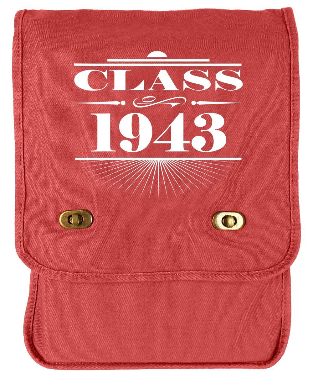 Tenacitee Art Deco Class of 1943 Royal Blue Brushed Canvas Messenger Bag