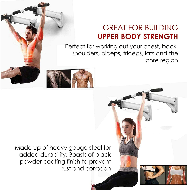 Barra para montar en la pared, soporte de metal, barra de dominadas para puerta, fitness, ejercicio en casa