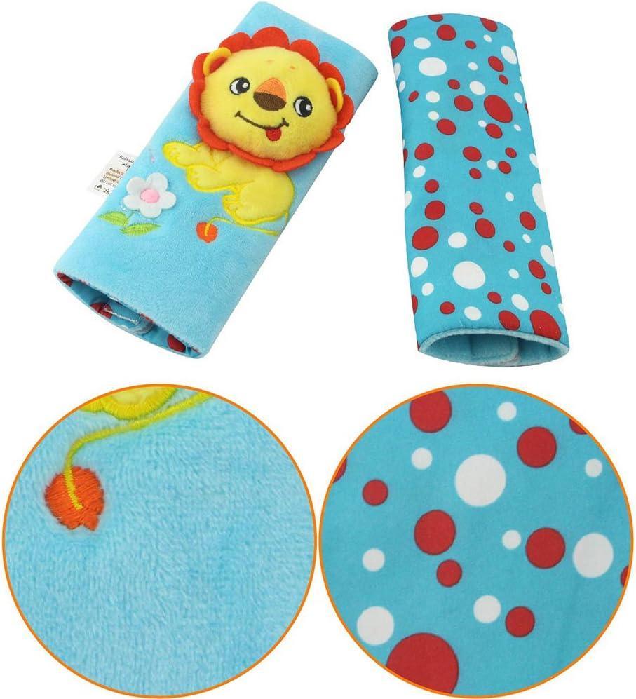 Faironly Baby Autositzgurt-Bezug Polster Baby Buggy Zubeh/ör Kindersicherheitsgurt Abdeckung D Giraffe Balloon