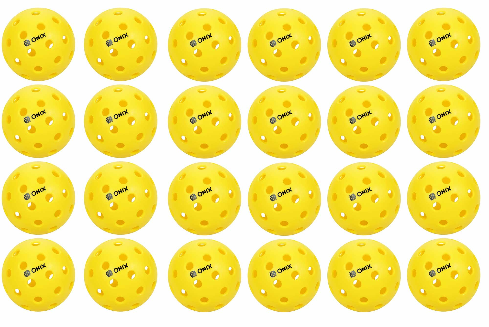Onix Pure 2 Outdoor Pickleball Balls 24 PACK YELLOW by Onix