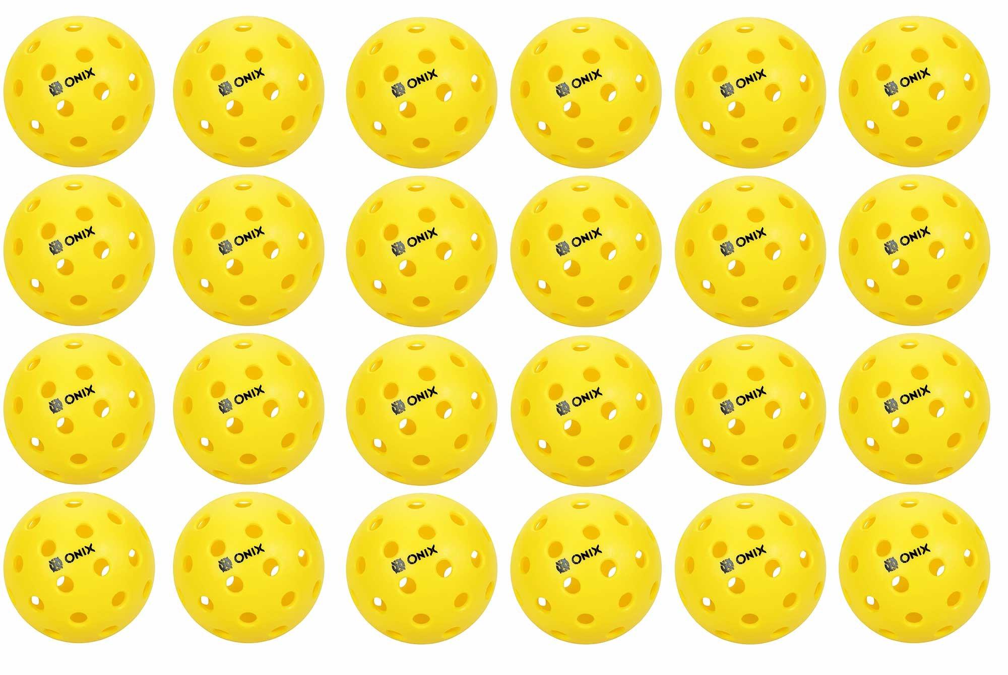 Onix Pure 2 Outdoor Pickleball Balls 24 PACK YELLOW