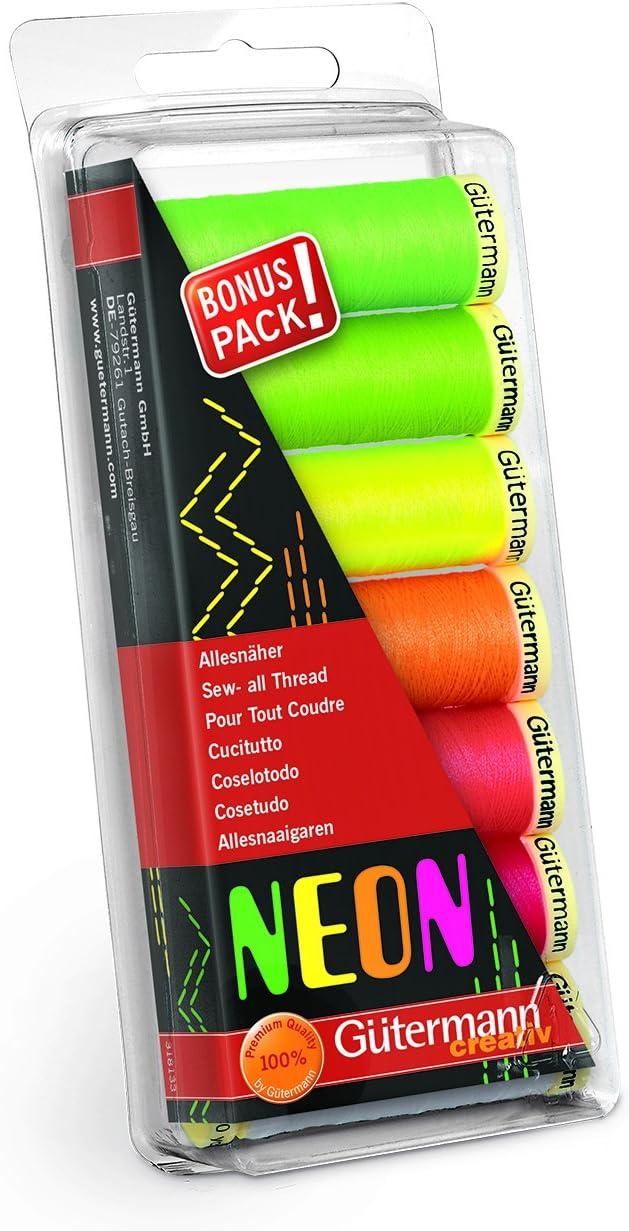 100m Neon Gutermann Thread Set