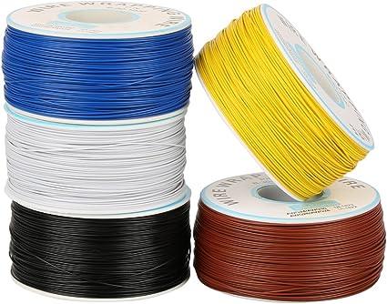Rouleau de c/âble C/âble /électrique Fil /électrique 2.5mm/² 200m 30AWG 80℃ C/âble de fil disolation de PVC Fil /électrique /à un noyau Fil de cuivre plaqu/é /étain Noir