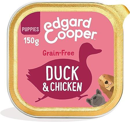 Edgard & Cooper Comida humeda Perros Cachorros sin Cereales, Natural con Pato y Pollo de Granja, con prebióticos para una digestión Saludable. Carne ...