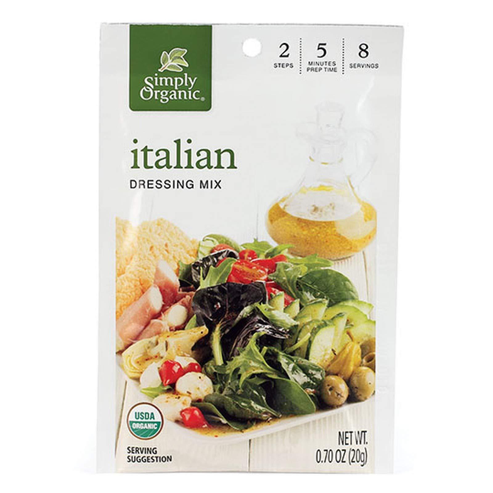 Simply Organic Italian Salad Dressing Mix 24x each .7 Oz