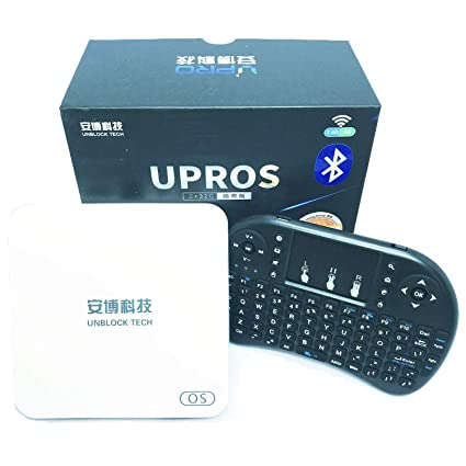 BAIPU Unblcok Tech TV Box 2019 Latest Unblock Tech Gen 7 Upros Ubox i9 2G  RAM 32G ROM 802 11ac 5G WIFI Jailbreak Version TV Box Gift Set