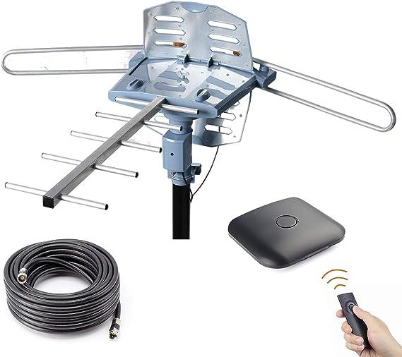 CeKay Antena digital de TV HD amplificada al aire libre ...