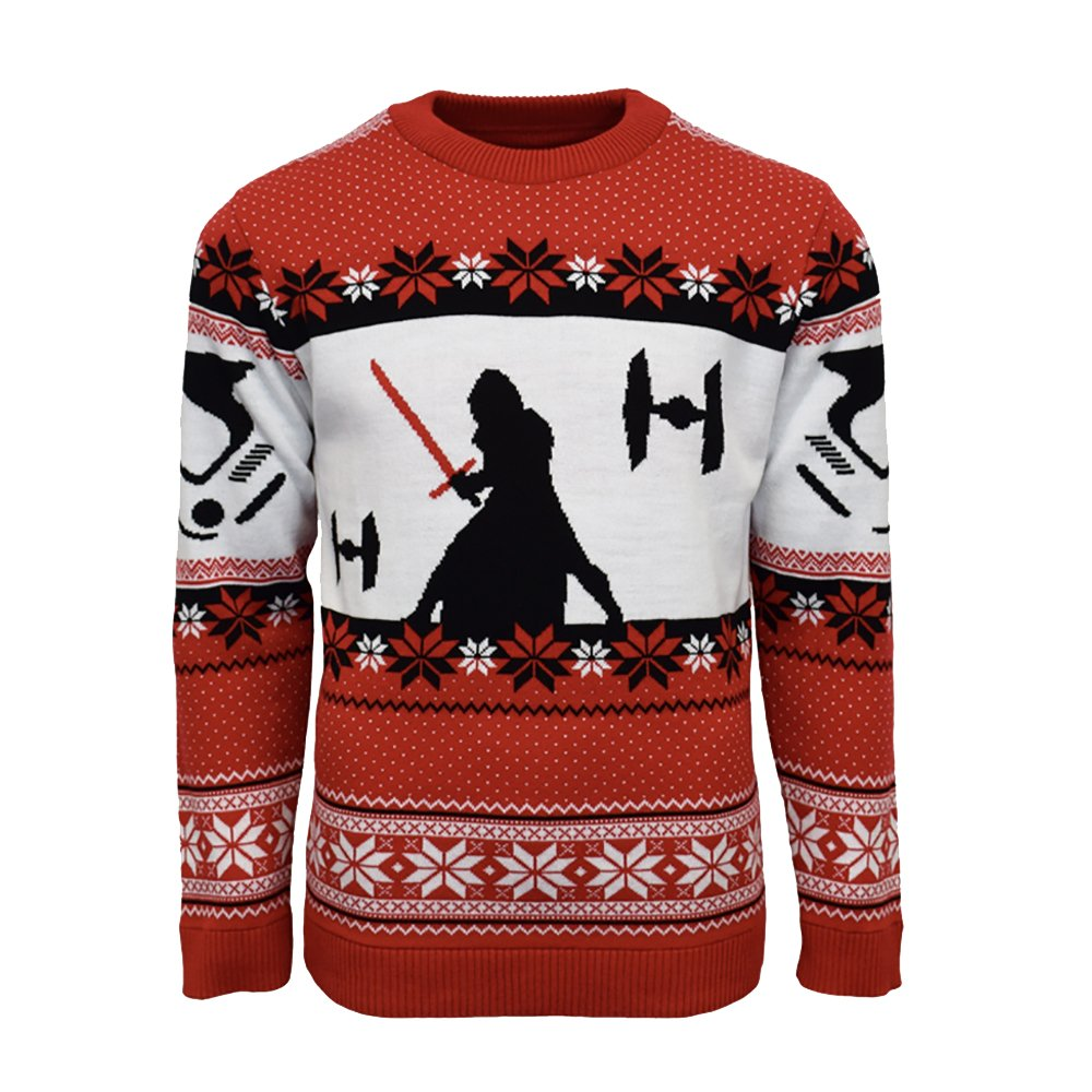 Numskull Official Star Wars Kylo Ren Christmas Jumper/Ugly Sweater