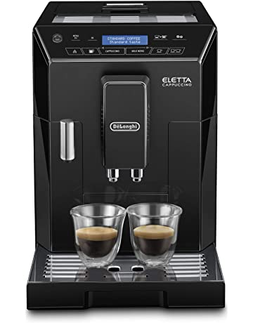 De'Longhi Eletta, Fully Automatic Bean to Cup Coffee Machine, Cappuccino and Espresso Maker, ECAM 44.660.W, Black