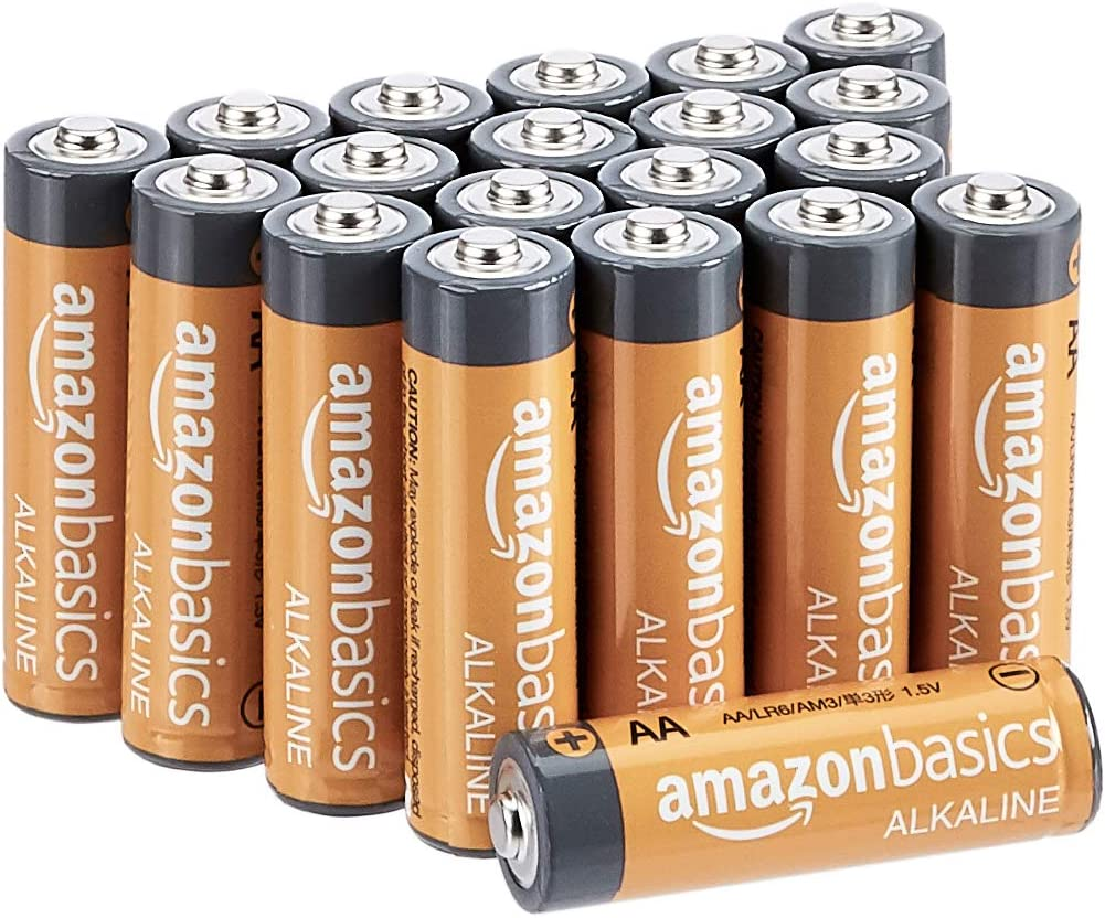 AmazonBasics - Pilas alcalinas AA 'Performance' (Paquete de 20) - Diseño variable