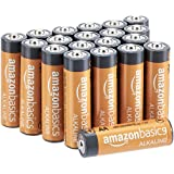 AmazonBasics 20-Count AA High-Performance Alkaline Batteries, 10-Year Shelf Life, Easy to Open Value Pack
