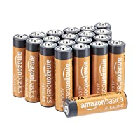 AmazonBasics 20-Count AA High-Performance Alkaline Batteries, 10-Year Shelf Life...