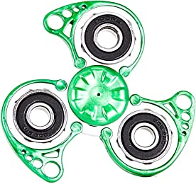 Quixters Stackable Customizable Fidget Spinner with Quick Switch Technology (Quixters Pro, White Core)