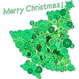 Swpeet 1000 件圣诞工艺纽扣,2 个和 4 孔红色圆形手工树脂缝纫纽扣适合圣诞缝纫装饰、艺术和工艺品项目 DIY 装饰 - 红色 * button-mutou