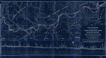 Amazon.com: Vintography 18 x 24 Blueprint Style Reproduced ... on louisiana & arkansas railroad map, railroad tracks in colorado map, burlington northern railroad map, b&o railroad map, wabash railroad map, soo line railroad map, santa fe railroad map, chicago & northwestern railroad map, kansas city southern railroad map, illinois railway museum map, rock island railroad map, chicago, burlington and quincy railroad map, galena and chicago union railroad map, norfolk southern railroad map, indiana harbor belt railroad map, great northern railroad map, new york central railroad map, ohio railroad map, current united states railroad map, amtrak map,
