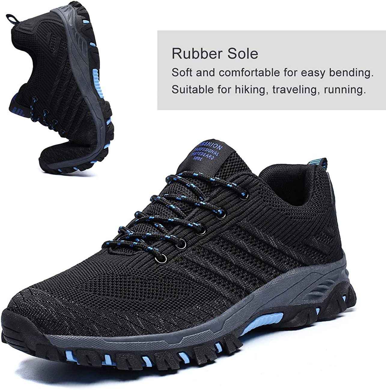 Chopben Mens Running Shoes Fashion Breathable Cushioning Trail Sneakers Lightweight Tennis Sport Casual Walking Athletic for Men Outdoor