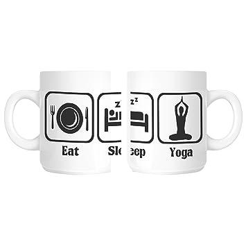 Amazon.com: shaniztoons Eat Sleep Yoga Gift Mug: Home & Kitchen